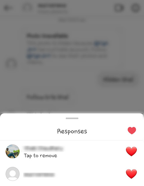 Remove heart like reaction from Instagram message