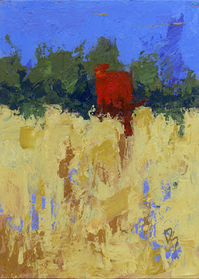 abstract landscape art knife painting