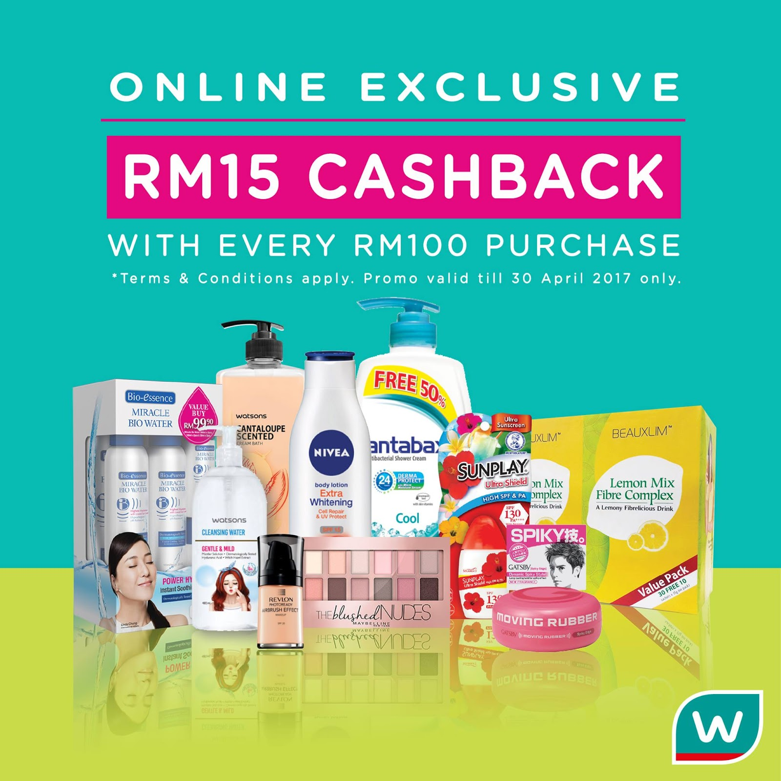 Watsons Online Store RM15 Cashback With Every RM100 ...  Watsons