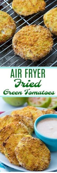 Air Fryer Fired Green Tomatoes