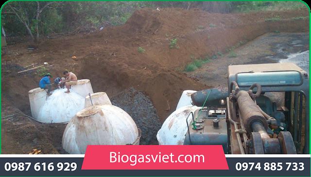 xây dựng hầm biogas cải tiến
