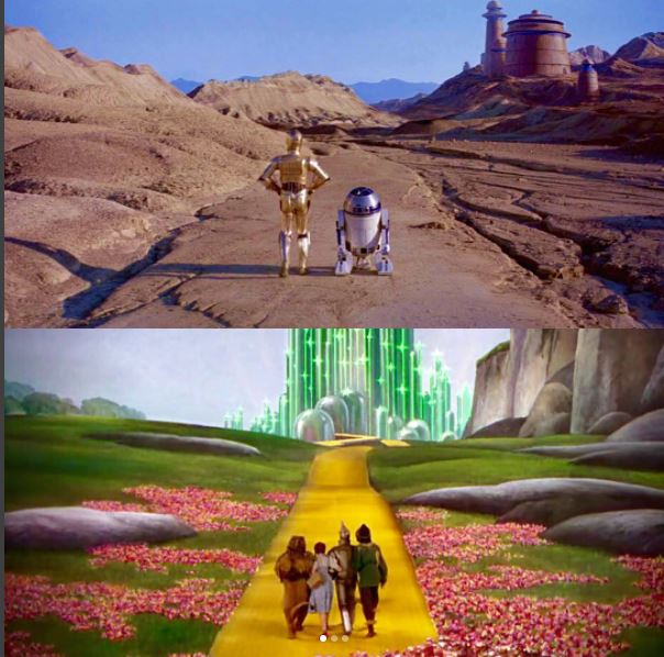 star wars wizard of oz parallel