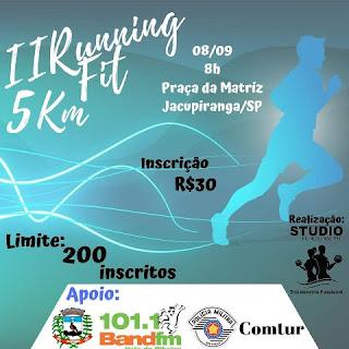 Inscrições do II Running Fit 5 Km de Jacupiranga estão quase chegando ao fim