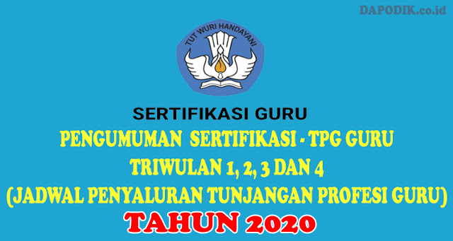 Hasil gambar untuk Jadwal Penyaluran Tunjangan Profesi Guru 2020