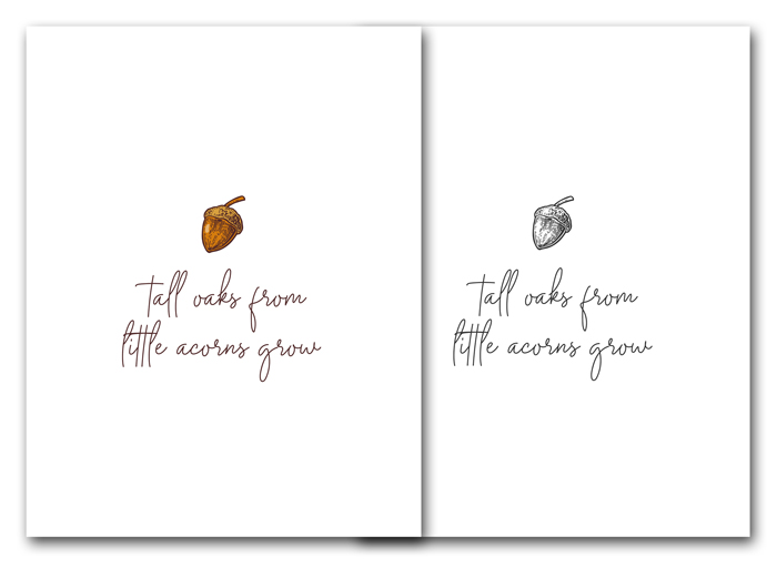 Acorns to Oaks Free Printables