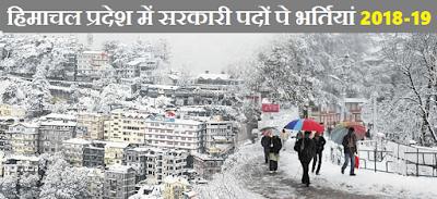Govt Jobs in Himachal Pradesh