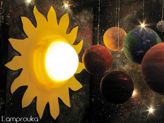 Εργασία για το ηλιακό σύετημα με πλανήτες και φωτισμό.
