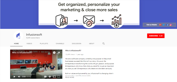 Professional YouTube Home Page example