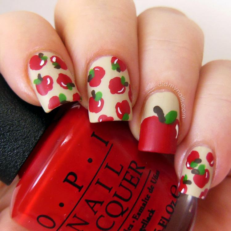 Did My Nails: Apple Nail Art