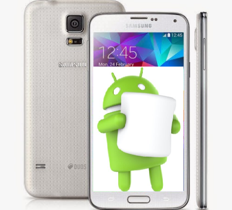 Android mobile phone Marshmallow available for your Galaxy S5 LTE-A