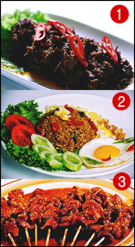 Rendang, Nasi Goreng, dan Sate sebagai masakan terlezat di dunia
