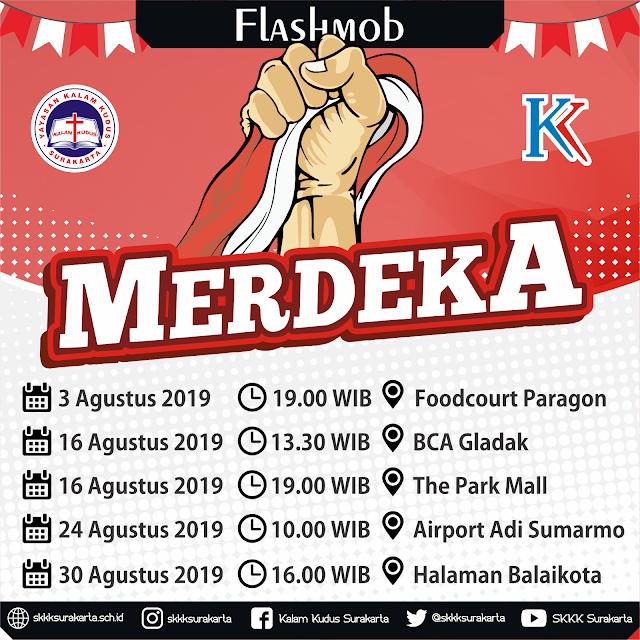 Flashmob Kalam Kudus Surakarta - Agustus 2019
