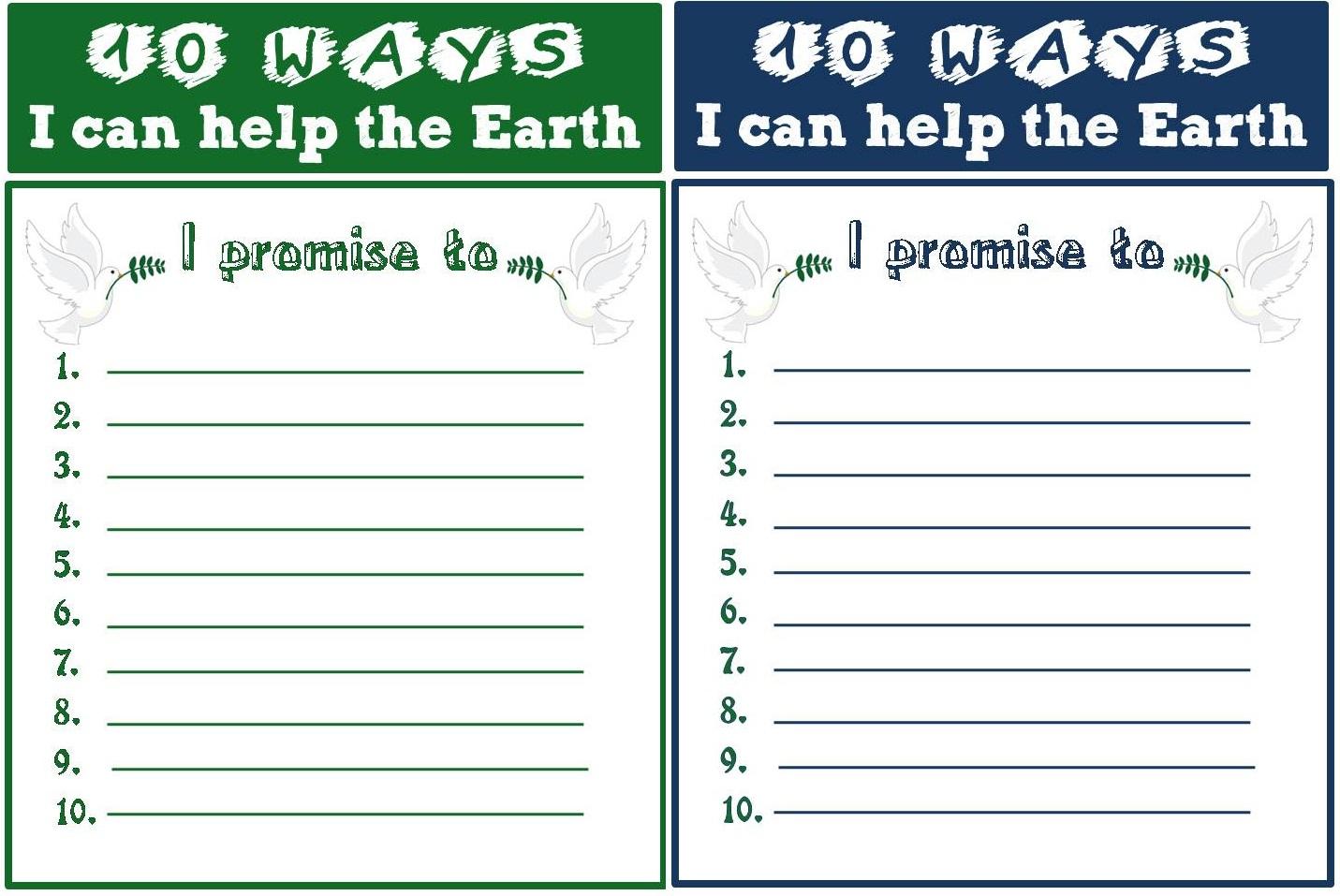 Enjoy Teaching English Earth Day Printable