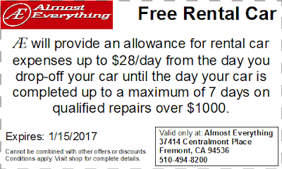 Coupon Free Rental Car December 2016