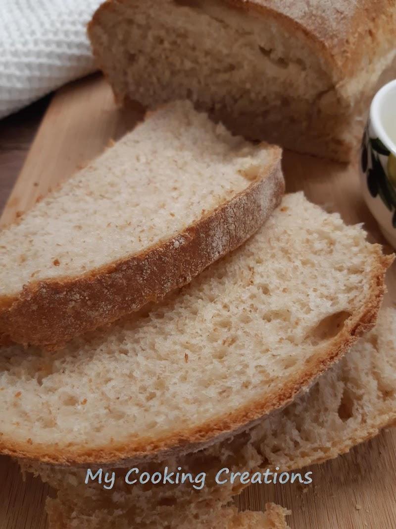 Пухкав пълнозърнест хляб с мляко * Pane al latte con farina integrale