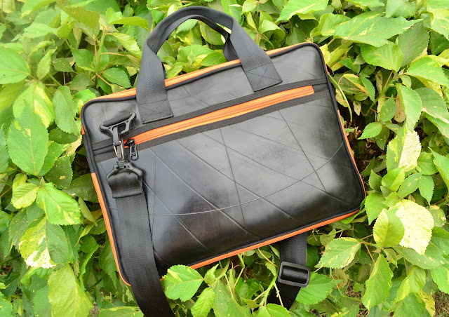 Upcycled Mac Book Vegan Bag