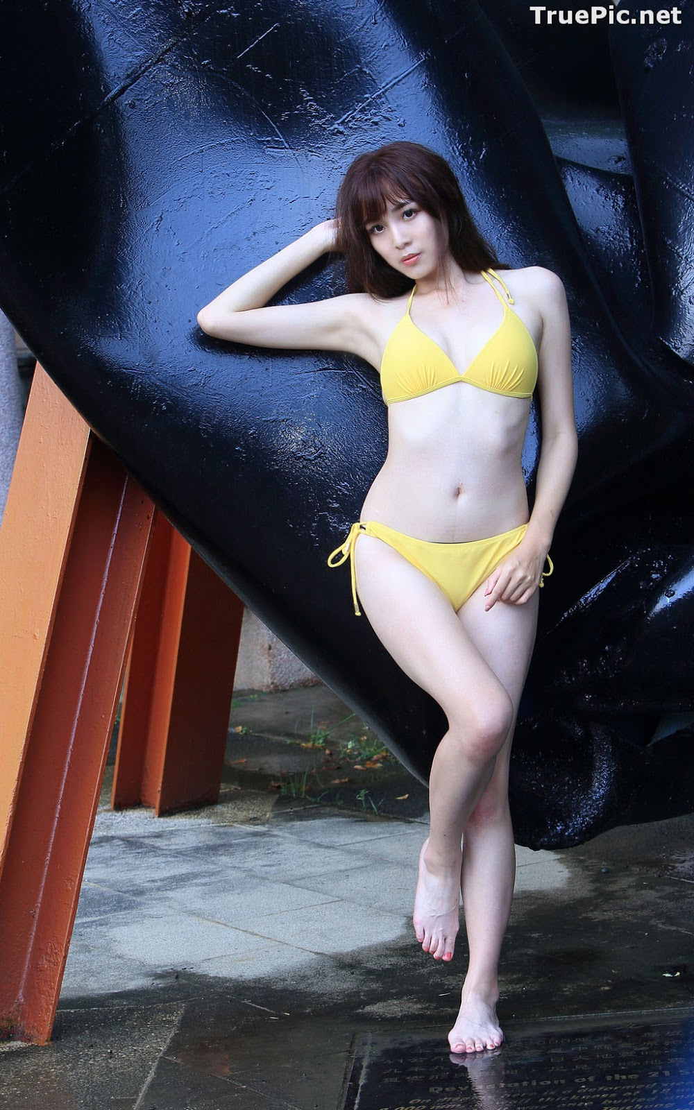 Image Taiwanese Model - Ash Ley - Yellow Bikini at Taipei Water Museum - TruePic.net - Picture-72