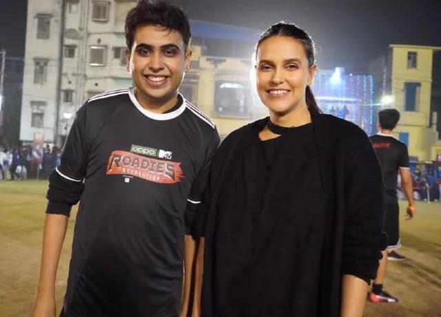 Sandy Saha with Neha Dhupia