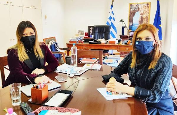 Ζαχαράκη - Μπίζιου συζήτησαν για την τουριστική ανάπτυξη του ν. Λάρισας