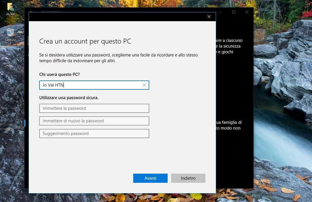 Reinizializzare Windows 10 HTNovo