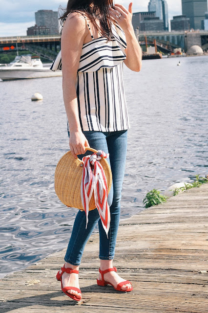 One Should Striped Top Ruffles The Northern Magnolia New England Style