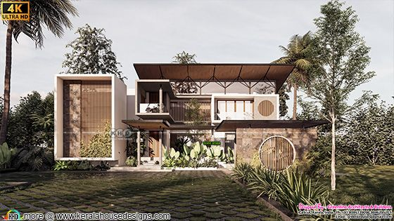 5 bedroom contemporary style home design