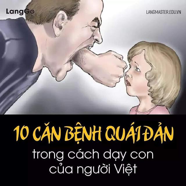 10 căn bệnh qoái đản trong cách dạy con của người Việt