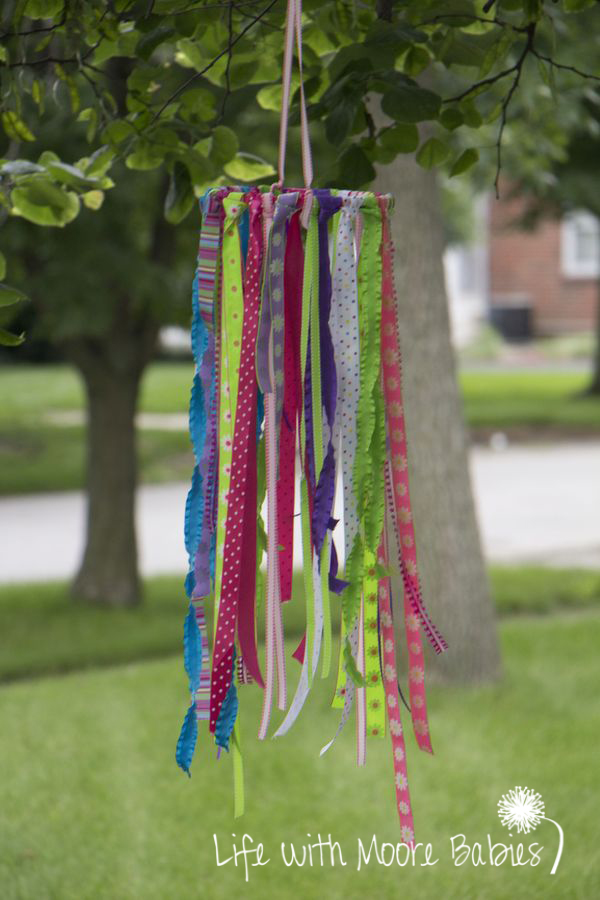 kids activities ribbon wind sock craft