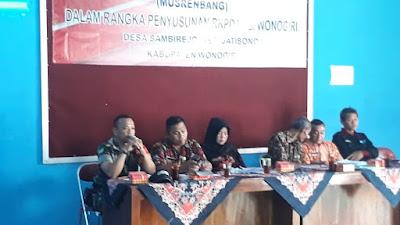 Ini Penyampaian Serda Agus P Pada Mursenbangdes TA 2020 Kecamatan Jatisrono