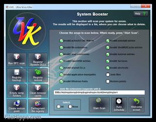 برنامج إزالة الفيروسات وإصلاح النظام Ultra Virus Killer 2020
