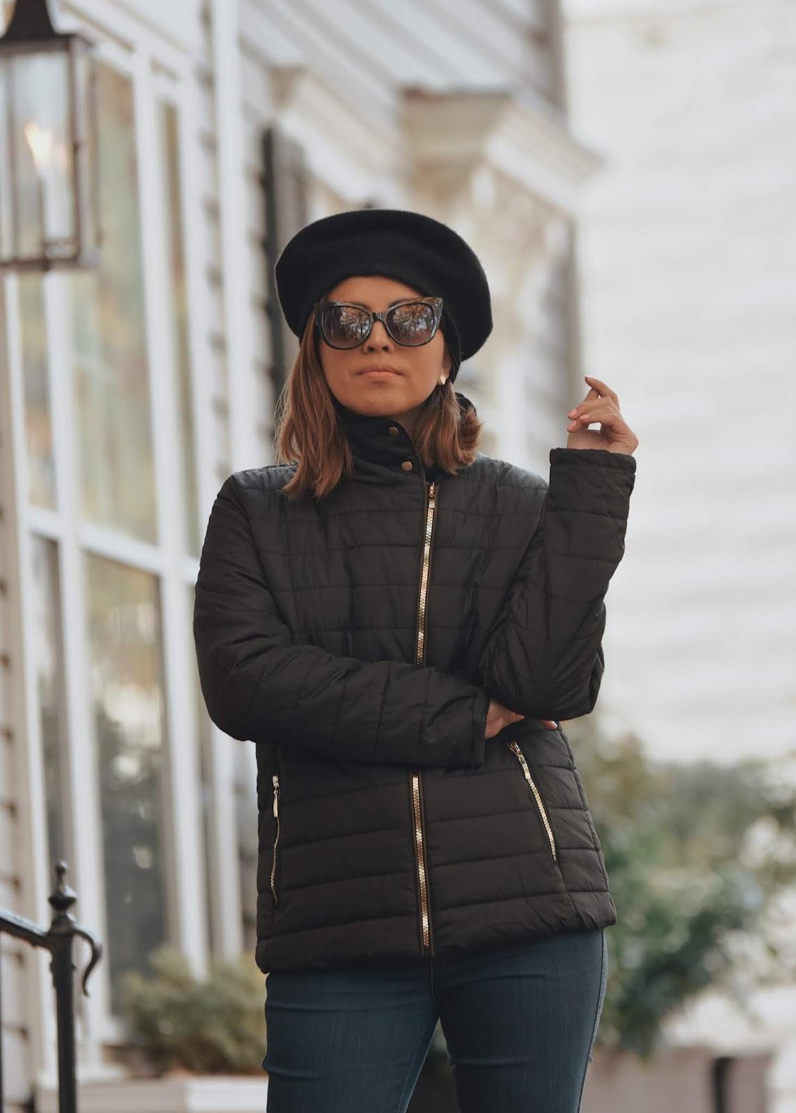 Jeans, Botas Altas Y Una Chaqueta Negra Para Un Otoño Con Mucho Frío by Mari Estilo-dcblogger-fashionblogger-fallfashion-lookbook-streetstyle-