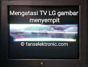tv LG gambar menciut melipat
