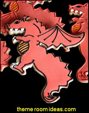 Dragon Shape Cookie Cutter  medieval knights party props - castle theme party decorations - Medieval theme party decorating - Castle party props - princess party props - knight and princess costumes - Princess & Knight party ideas - Medieval wall decorating kit - harry potter party supplies - Medieval Birthday Party