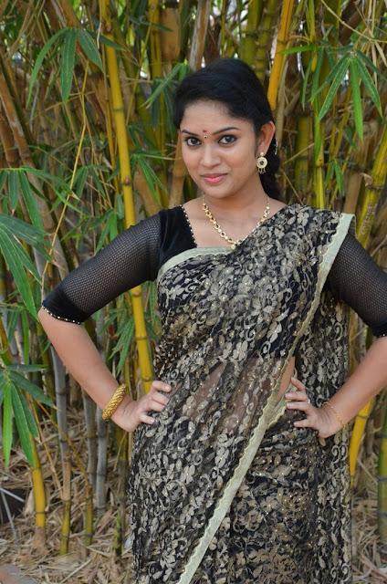 Tamil Actress Sri Priyanka Pos in Saree at Pichuva Kaththi Tamil Movie Audio Launch  0001.jpg