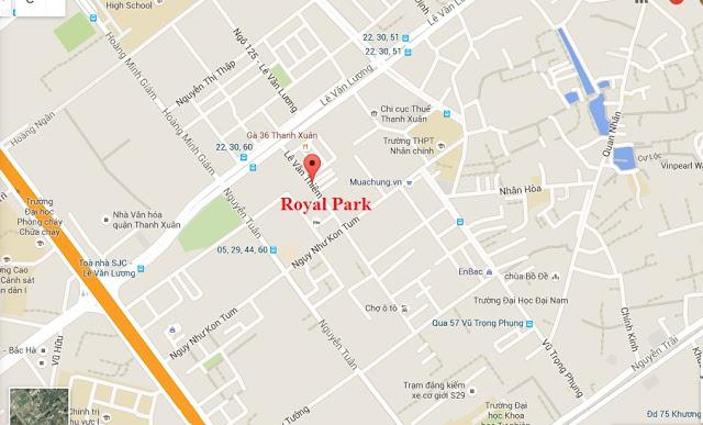 Vị trí chung cư Royal Park Lê Văn Thiêm