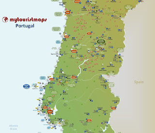 Portugal interactive tourist map