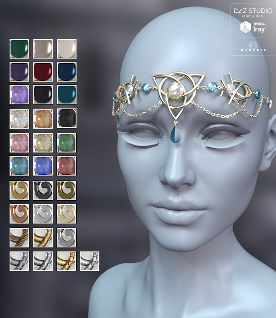 Ascension Headwear for Genesis 3 Female
