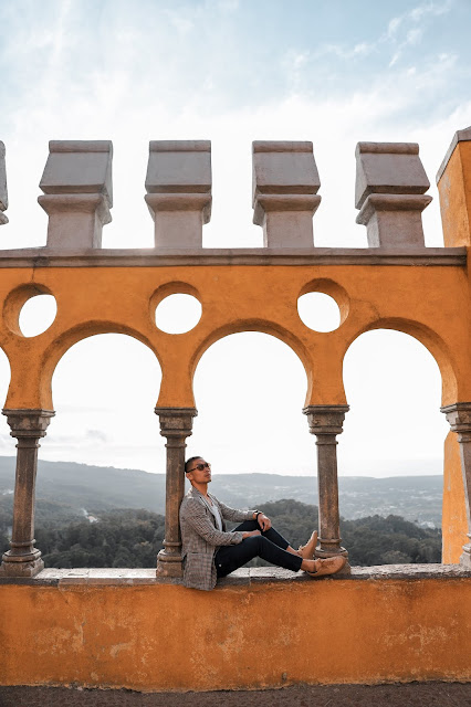 Leo Chan at Pena Palace in Sintra, Portugal | Travel Guide