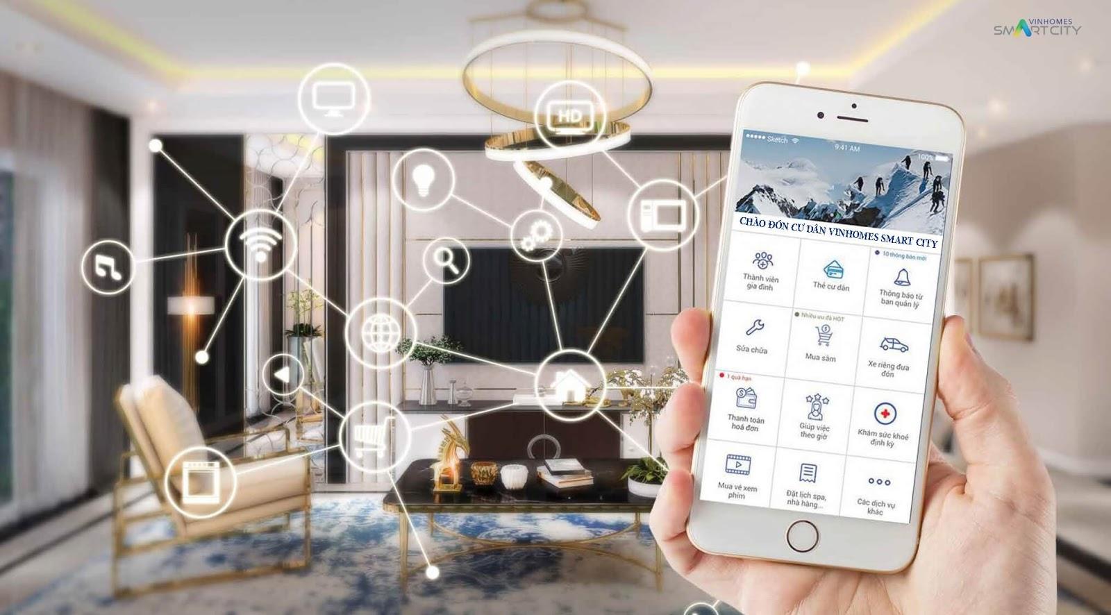Căn hộ thông minh Vinhomes Smart City Tây Mỗ