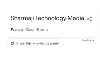 Sharmaji Technology Media, Organization knowledge panel Google