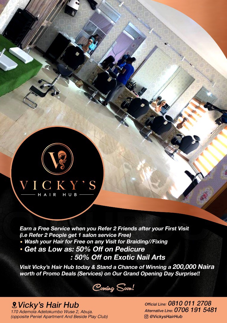 Get A Professional Hair Look With Vicky`s Hair Hub in Nigeria and Win N200,0000