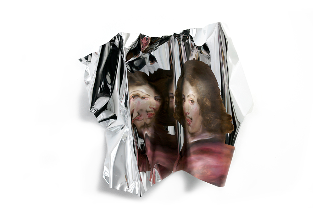 06-Martin-C-Herbst-Oil-Painting-on-Folded-Mirror-Polished-Aluminium-Foil-www-designstack-co