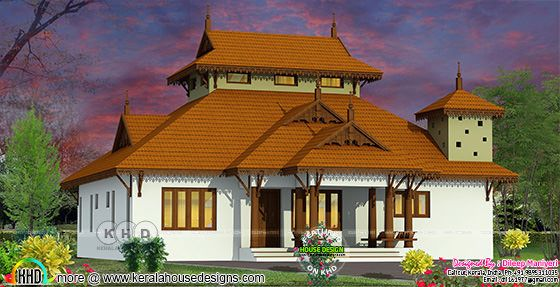 3 bedroom traditional Kerala home