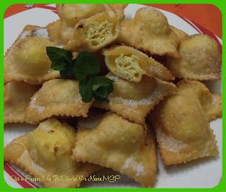 Fotografia della ricetta Ravioli di ricotta dolci fritti