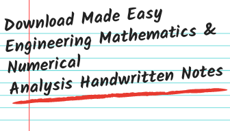 Download Made Easy Engineering Mathematics  And Numerical Analysis Handwritten Notes Pdf