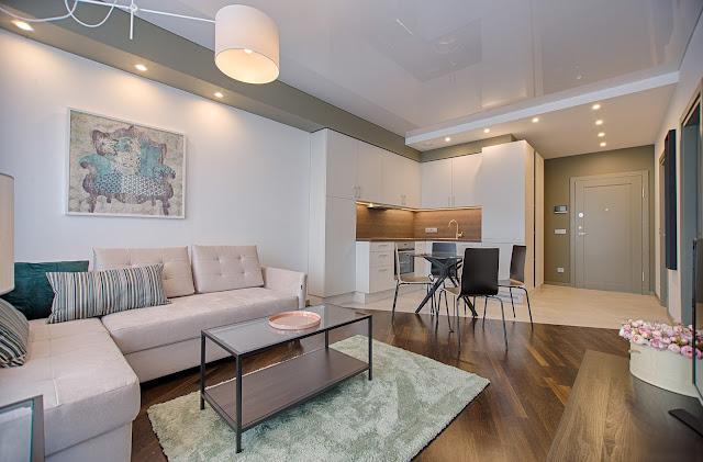 Desain Ruang Tamu Minimalis Modern Dengan Wallpaper Dinding