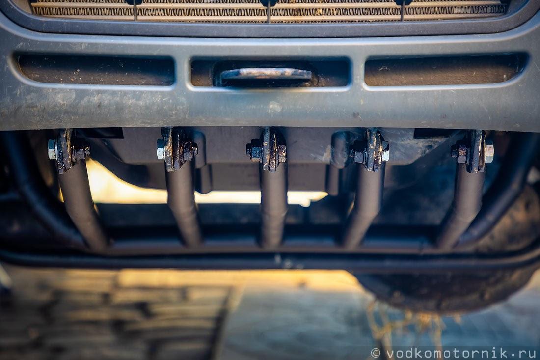 Защита на ГАЗ Соболь 4х4 самый западный установлена