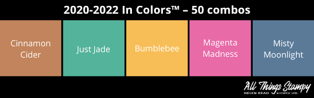 Stampin Up In Colors colour combinations 2020 Allthingsstampy