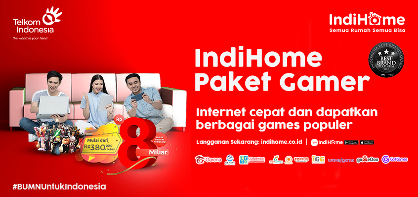 IndiHome Paket Gamer Web 2020Home Page