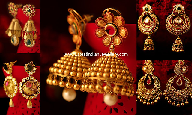 Gold Earrings from Kalyan